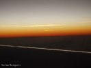 Sonnenuntergang zwischen Perth und Singapur
